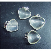 Beautiful Certified Natural Spathik / Crystal Quartz Heart Shape Pendant !!!