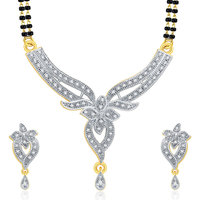 Sukkhi Sparkling Gold And Rhodium Plated CZ Mangalasutra Set For Women