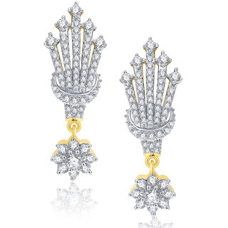 Sukkhi Elegant Gold And Rhodium Plated CZ Earrings For Women
