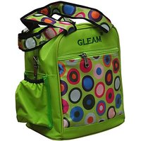 Gleam Mesh Padded Container Box Waterproof Lunch Bag         (Green, 10 L)