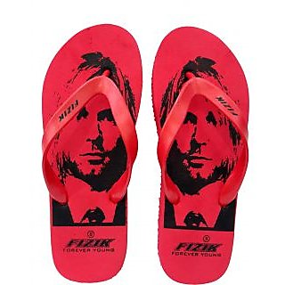 Red Mens BOY GENTS Flip Flops