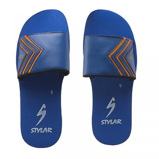 STYLAR Jordan II Flip Flops (Blue and Orange)
