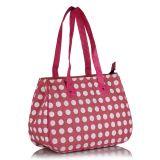 Earthen Me Polka Dots Fashion Jute Bag Pink