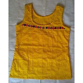 WomenGirlsLadies tank top  tees cotton sleeveless short kurta  kurti