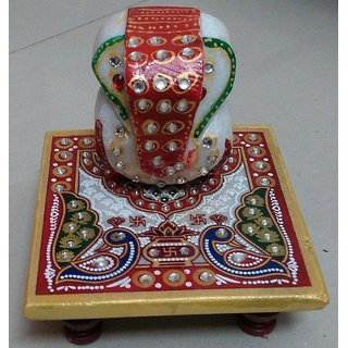 KZ Chowki Ganesh with Traditional Meena Kundan
