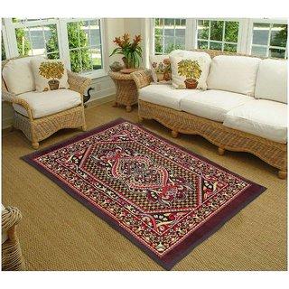K Decor Polyester Washable Anti-Allergic Carpet (5x7 feet)