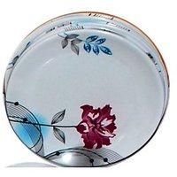 Set Of 50 Pcs Trendy White Melamine Full Dinner Plates Design 5