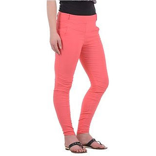 Peach Jeans Orange Jeans Color Skinny Jeans Pink Jeans Color Jeans Colored Pants Pink Black Black Tops Peaches Forward well, Im not real crazy about the peach color jeans or the heel strap around the ankles, but I like the overall look.