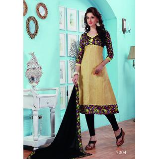 Trendz Apparels Cream Bangalori  Bhagalpuri Anarkali Salwar Suit