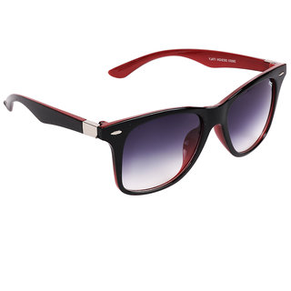 Pede Milan Purple Rectangular Sunglass-PM-241-StylishWayfarer-BlackRedPurple