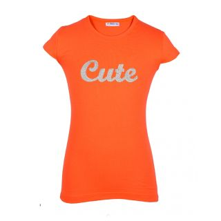 Lil Orchids Girls Cute Sequenced Tunic Tops