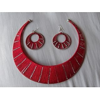 Rinurakhi Pendant and Earrings Set DL00102
