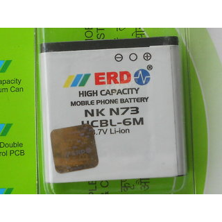 100  ORIGINAL ERD BP-6M BP 6M BP6M BATTERY FOR Nokia N73 N77 N93 9300 9300i 6288 6280 6233 6151 3250 Xpress Music MOBILE WITH BILL SEAL PACK