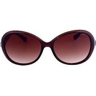 Idee Women's Oval Oversized Sunglasses - Brown