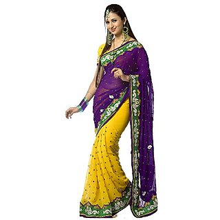 Tiana Creation Lilly Pilly Georgette Designer Saree