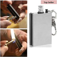 Survival Tool Flint Fire Starter Lighter matchbox