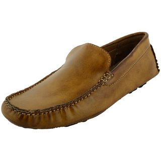 Okayy Beige Driving Loafer For Men