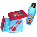 Kids School Lunch Box With Square Compartment and Water Bottle