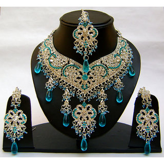 Indian Wedding Bridal Jewellery Necklace Set. NP-356