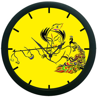 AE World Krishna Wall Clock (With Glass)