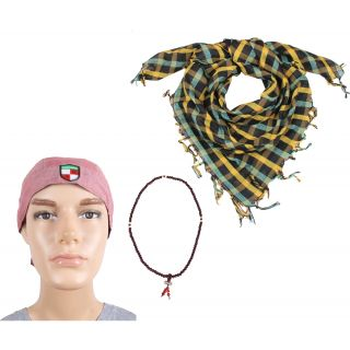 Sushito Devine Ridders Headwrap With Mala With Scarf JSMFHHR0254-JSMFHHR0096