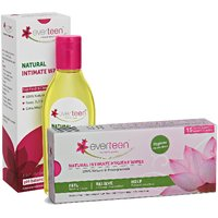 Everteen Combo Of Natural Intimate Wash  Natural Intimate Wipes