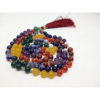 Aum Zone 7 Chakra semi precious stone mala