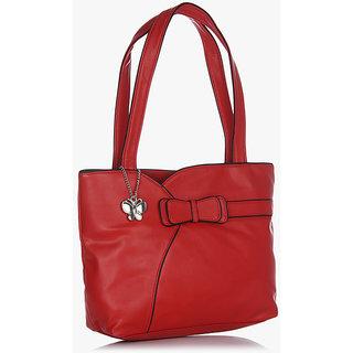 Butterflies Red Shoulder Bag