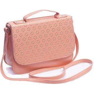 Voaka Womens Sling Bag(Peach Boxsling): Buy Voaka Womens Sling Bag ...