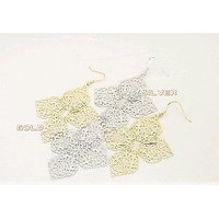 Fashion charming hollow large flowers leafs earrings jewelry