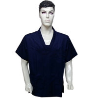 Surgical E Studio Doctors/surgeon Scrub Suit (TOP) Dark Blue Large