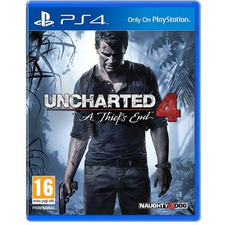 Uncharted 4 A Thiefs End PlayStation 4 (PS4) New With Thumb Grip