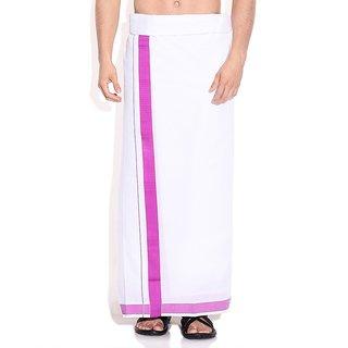 Fashionkiosks Mens Traditional Mejantha Border Dhoti ElantraMejantha255