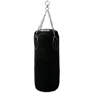 Facto Power 2.5 Feet Length BLACK Color Unfilled Synthetic Leather Punching Bag