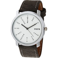 Oura Analog Round White Dial Formal Wear Watch For Men