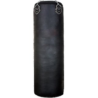 Facto Power 4.5 Feet Length BLACK Color Unfilled Synthetic Leather Punching Bag