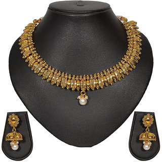 Pourni Designer Necklace Earring Jewellery Set for women - PRNK21