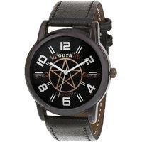Oura Analog Round Designer Stylist Gun-Metal Watch For Men