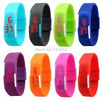 3 Pieces Different colors Sport LED Watches Silicone Rubber Digital Watches
