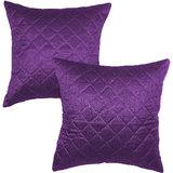 Box Quilting Cushion Cover 30/30 Cm Purple 2 Pcs Set