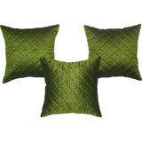 Box Quilting Cushion Cover Green 30/30 Cm 3 Pcs Set