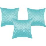 Box Quilting Cushion Cover Sky Blue 30/30 Cm 3 Pcs Set