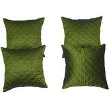 Box Quilting Cushion Cover Green 30/30 Cm 4 Pcs Set