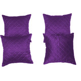 Box Quilting Cushion Cover Purple 30/30 Cm 4 Pcs Set