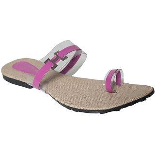 Azores Pink Flat Sandals