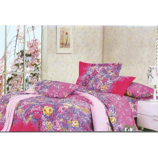 Looms of India flower print  Bed Sheet Set (BC-11333)