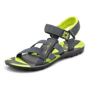 Chevit Mens Yellow Black Velcro Floaters