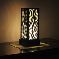 DecorNation Luxury Flame Pattern Lamp By Decornation - Night Lamp / Table Lamp /