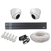 Cp Plus 02 Dome Camera  + 4 Channel Dvr + Connectors + Power Supply+ Hard Disk + Wires Combo