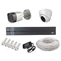 Cp Plus 1 Dome Camera  1 Bullet Camera +4 Channel Dvr + Connectors + Power Supply+ Hard Disk + Wires Combo